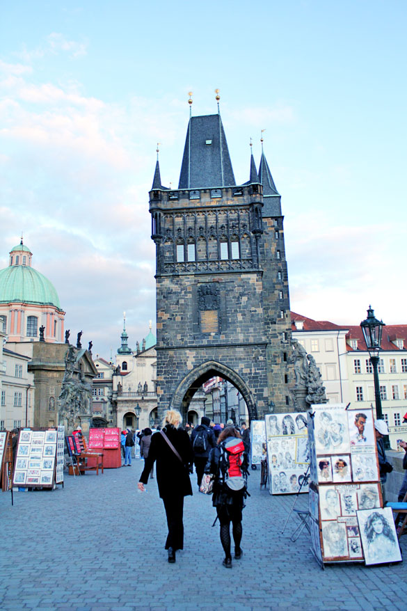 Prague bridge gate