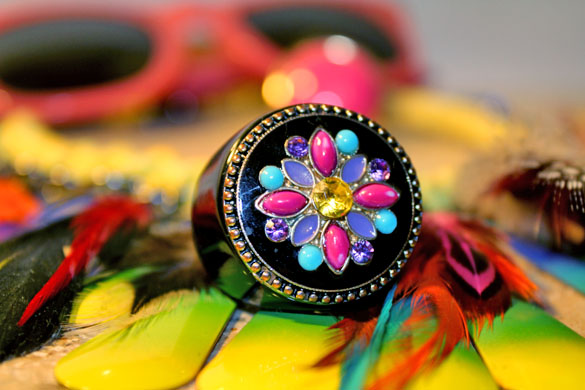 pink psychedelic ring accessories