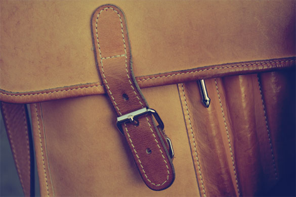 Leather Handbag for Men Close Up