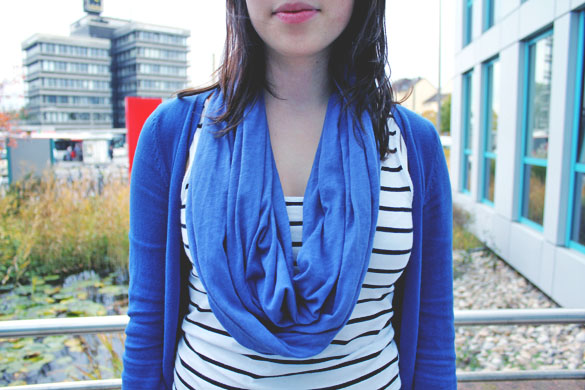 Blue Loop Scarves
