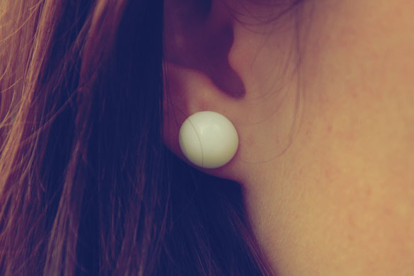 An Earring looks like a Mentos