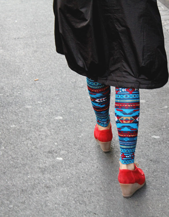 Leggings with Ikat Pattern