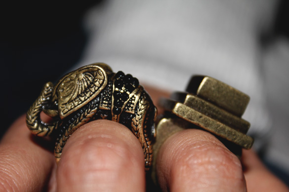 Accessory elephant ring close up photo