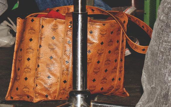 MCM cognac shopper bag heritage line