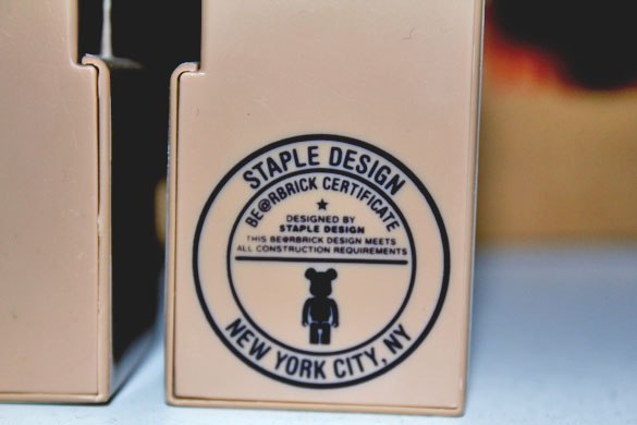 Staple bearbrick certificate from staple design