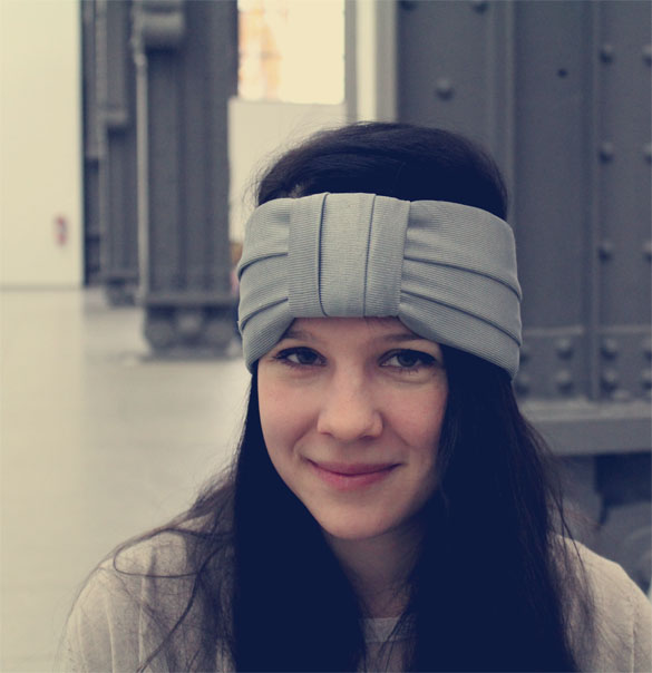 Grey turban knot headband