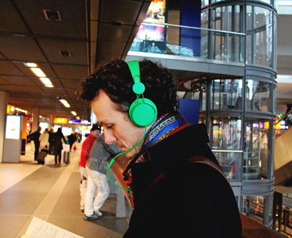 Green headphones from Urban Ears