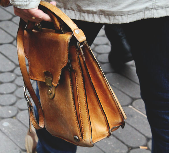 Vintage leather satchel for men - Curated Wares