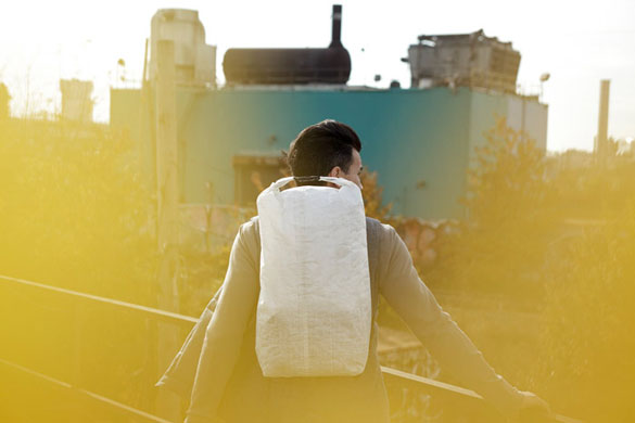 Outlier minimal backpack from behind