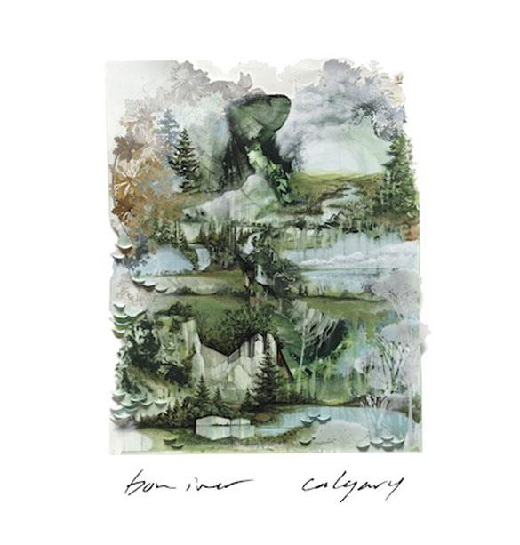 Bon iver calgary album cover