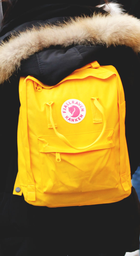 Fjallraven kanken backpack in yellow