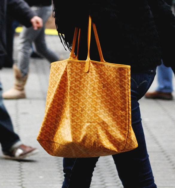 goyard shopper bag in yellow