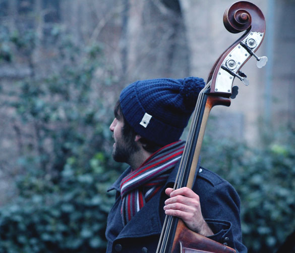 bobble beanie and contrabass