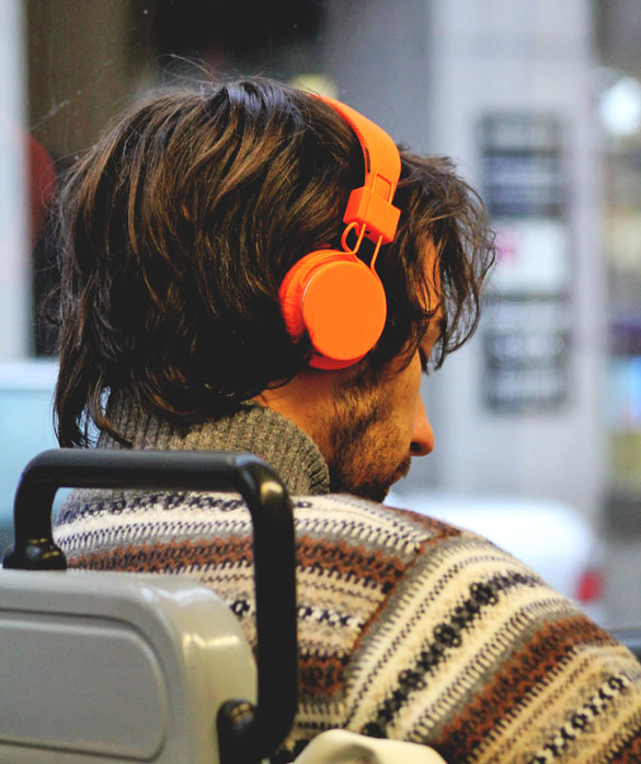 urbanears heaphones in orange