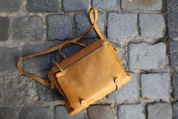 aandd academy satchel in tan