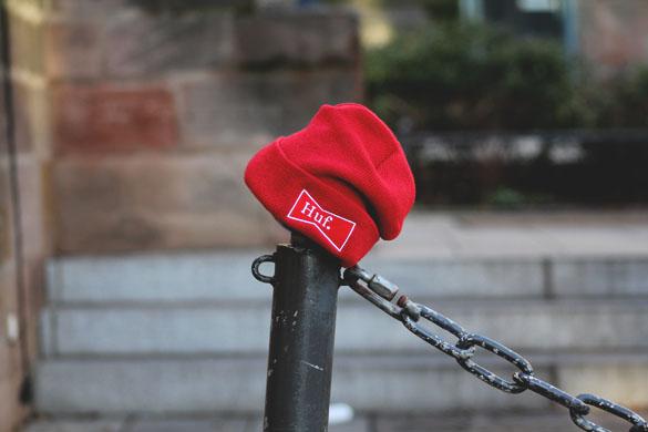 HUF Singlefold beanie in red