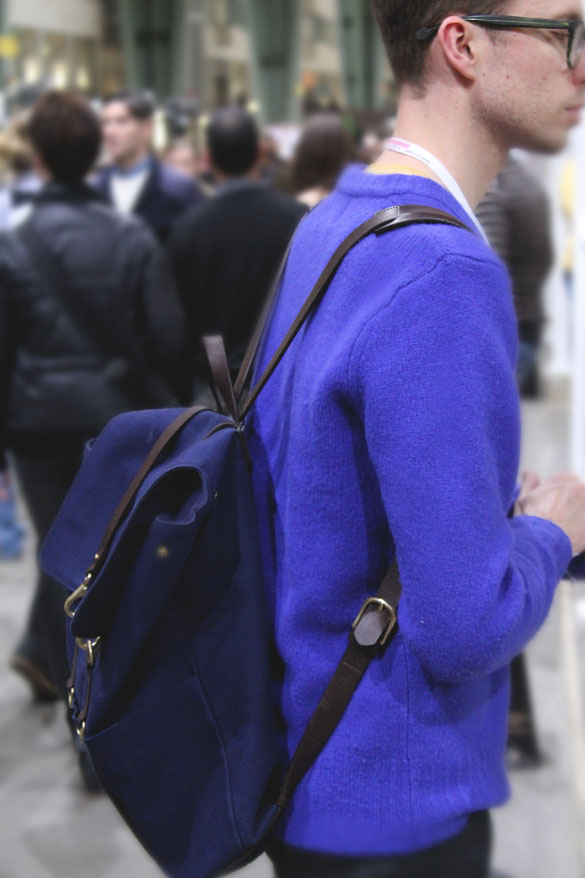 mismo backpack blue from the side