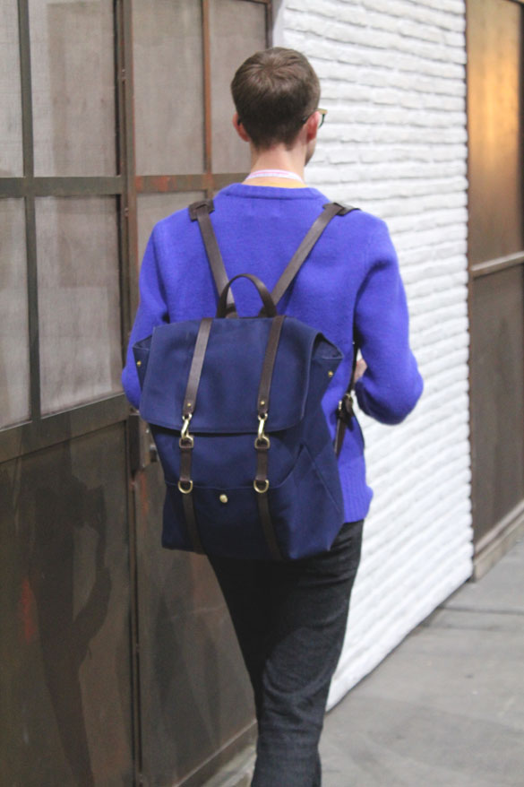mismo backpack in blue