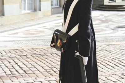military pouch denmark castle guard