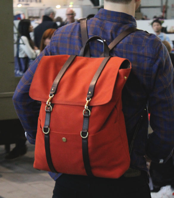 mismo backpack in orange