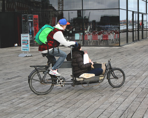 modified tandem bike