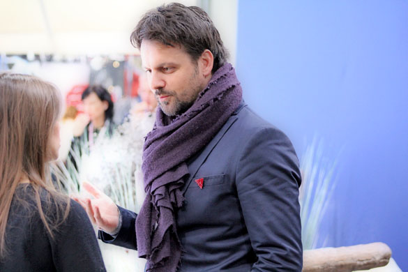 purple scarf and red pin for mens accessories
