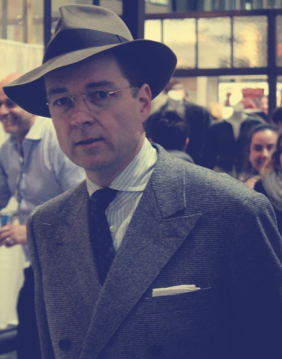 Photo brown fedora hat for men