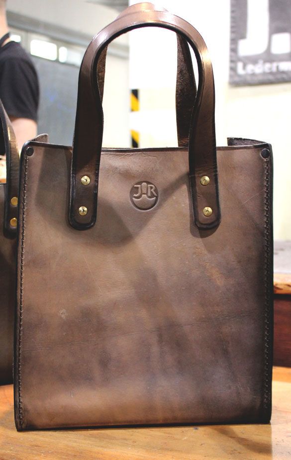 jr ledermanufaktur leather tote bag