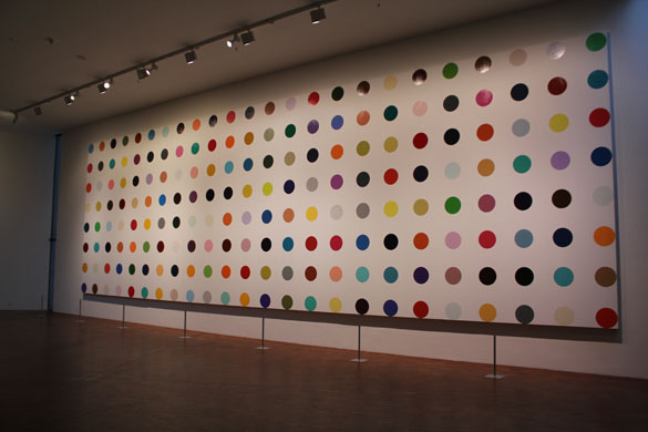 damien hirst connecting the dot