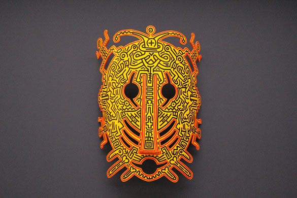artwork ketih haring mask