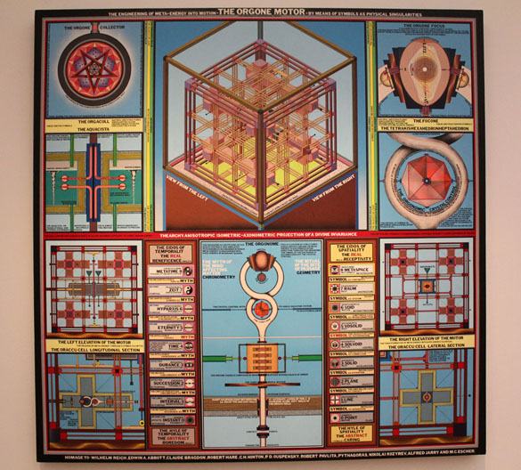 artwork Paul Laffoley the orgone motor