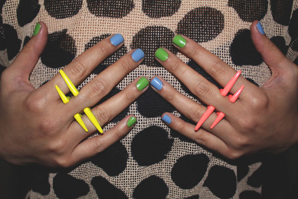 percing rings neon colors