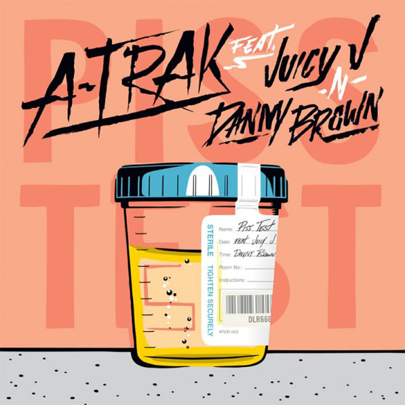 album cover atrak piss test