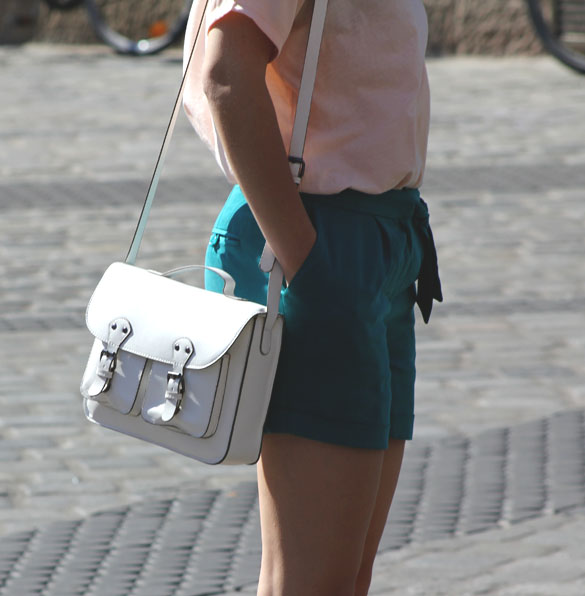 white satchel for women