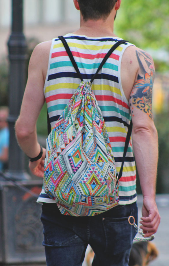 backpack psychedelic pattern