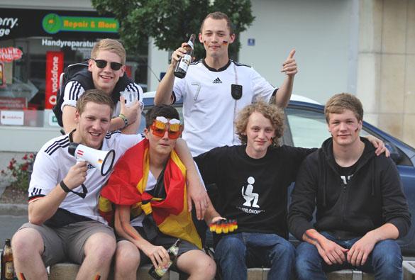 german fans at euro 2012