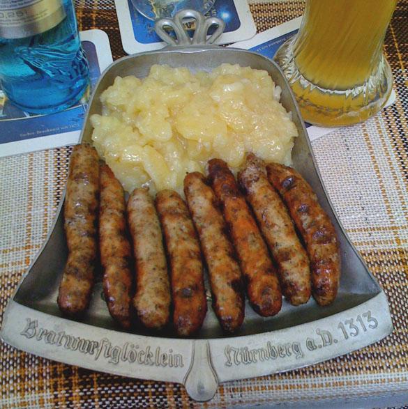 nürnberger bratwurst in goldenes posthorn