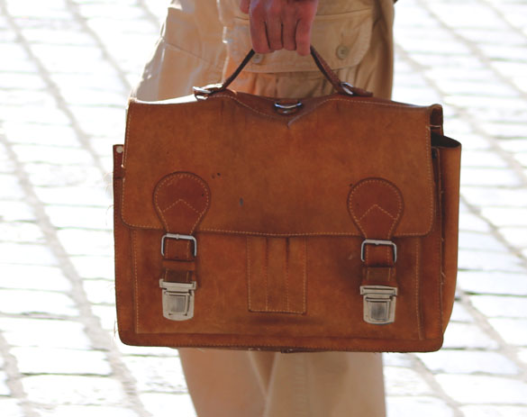 vintage leather handbag messenger