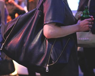 black-celine-tote-with-front-zip