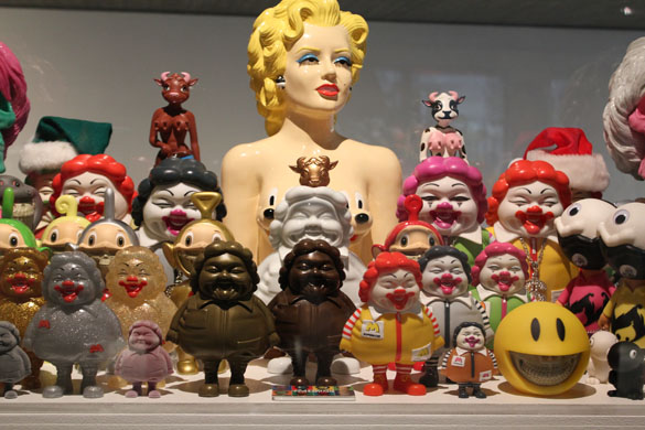 ron english at art & toys exhibition in berlin