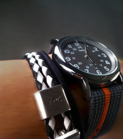 Timex Weekender YSL Leather Double Braided Bracelet