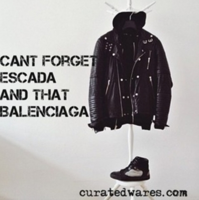 BLK DNM Hoody and Balenciaga sneakers